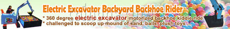 Electric Excavator Backyard Backhoe Rider