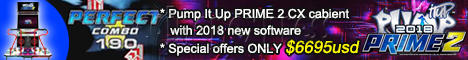 Pump It Up PRIME 2 2018 Arcade Edition Dance Machine (CX cabinet)