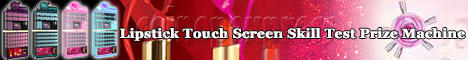 Lipstick Touch Screen Skill Test Prize Machine