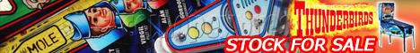 Thunderbirds Pinball Arcade Game Machine