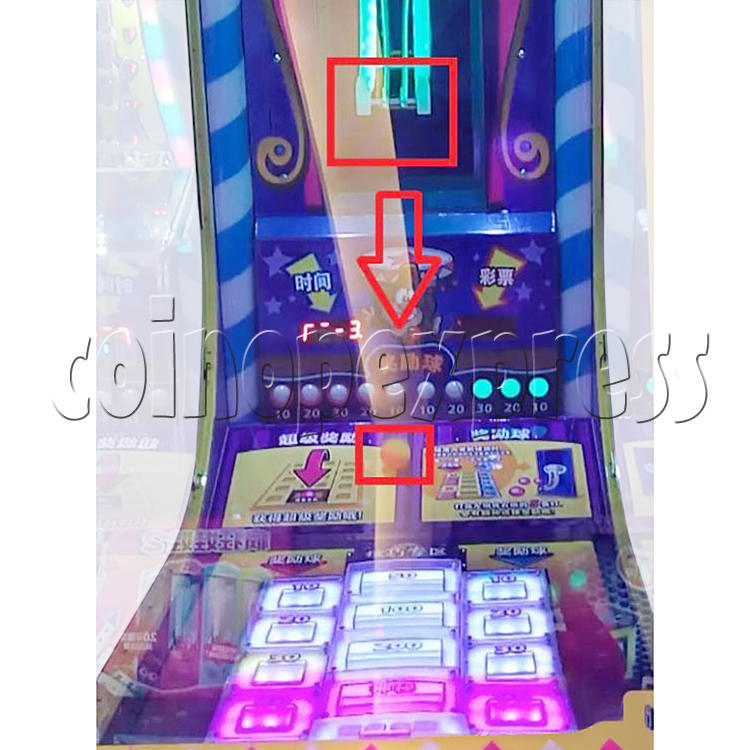 Circus Ball Drop Skill Test Redemption Machine 34823