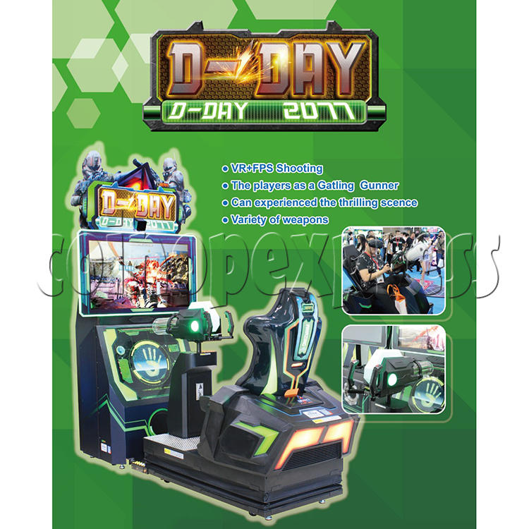 D-Day VR FPS Shooting Arcade Game machine 36046