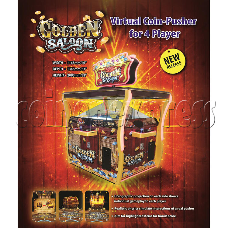 Golden Saloon Holographic Projection Redemption Machine 36325