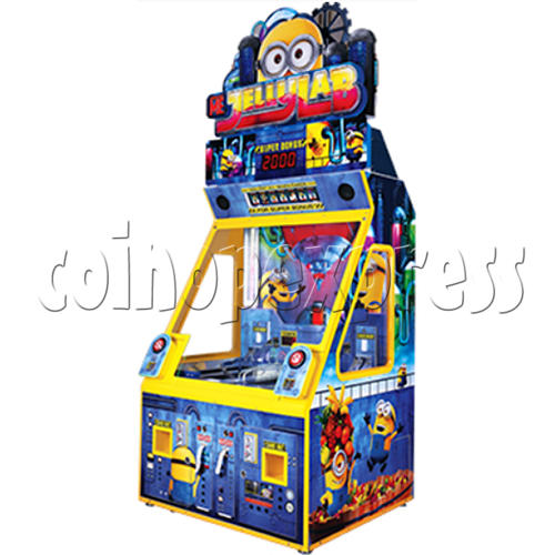 Despicable Me Jelly Lab Coin Roll Down Arcade Game machine 37685