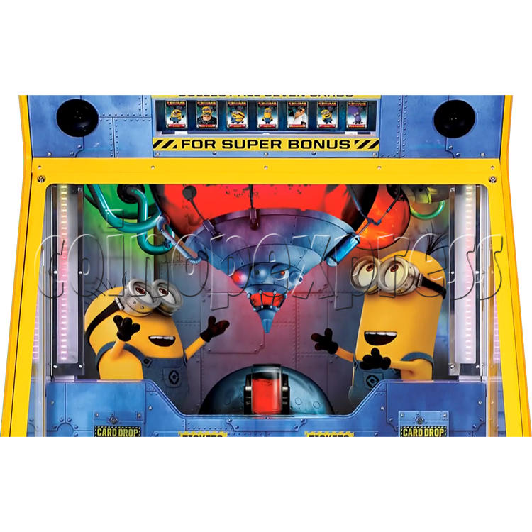 Despicable Me Jelly Lab Coin Roll Down Arcade Game machine 37689