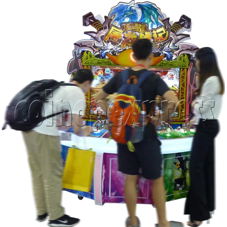 Dragon Wars Upright Cabinet with Video Game Ticket Redemption Machine (3 players) 37753