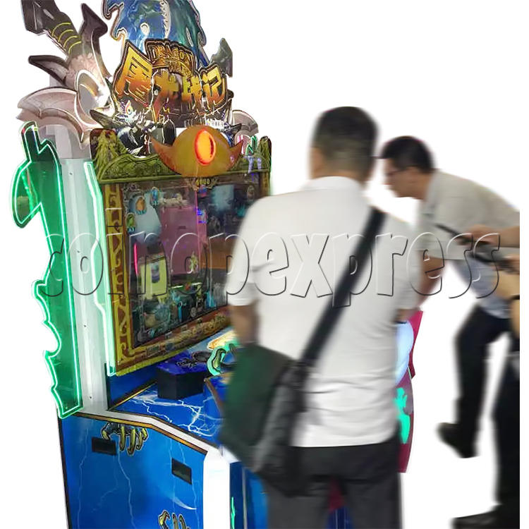 Dragon Wars Upright Cabinet with Video Game Ticket Redemption Machine (3 players) 37755