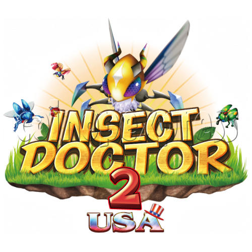 Insect Doctor 2 USA Edition Arcade Game Full Gameboard Kit-game logo