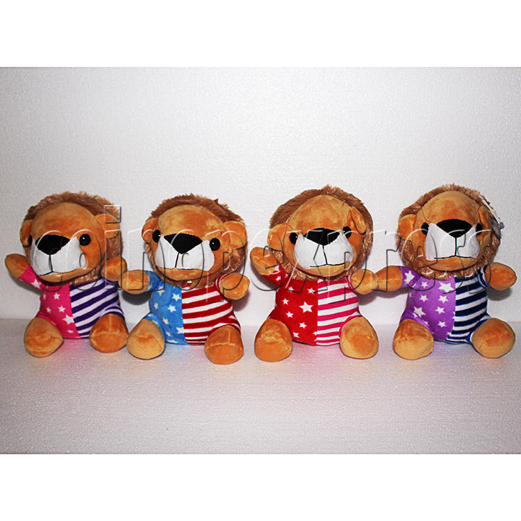 Rainbow Lion Plush Toy 8 inch - front view