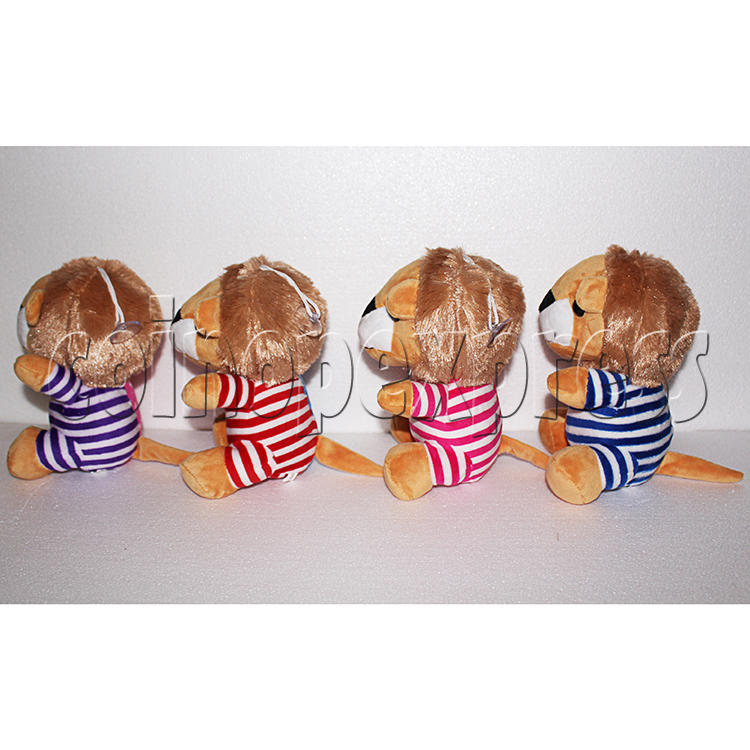 Rainbow Lion Plush Toy 8 inch - side view