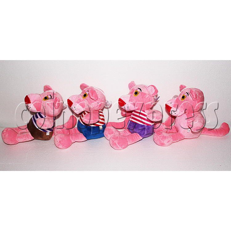 Pink Panther with Stripes Plush Toy 8 inch - angle view