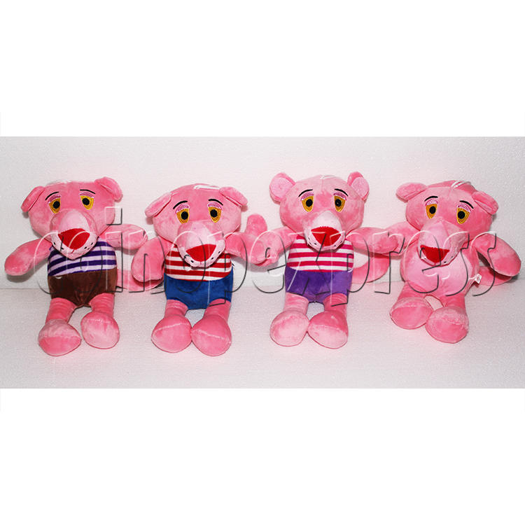 Pink Panther with Stripes Plush Toy 8 inch - front view