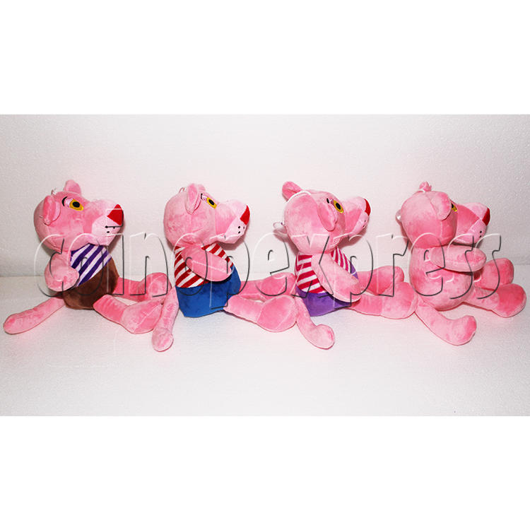 Pink Panther with Stripes Plush Toy 8 inch - side view