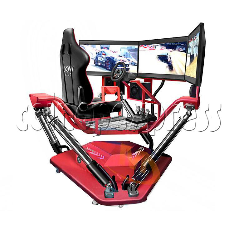 3 Fold Screen Virtual Reality Driving Car Arcade Game Machine- Angle view