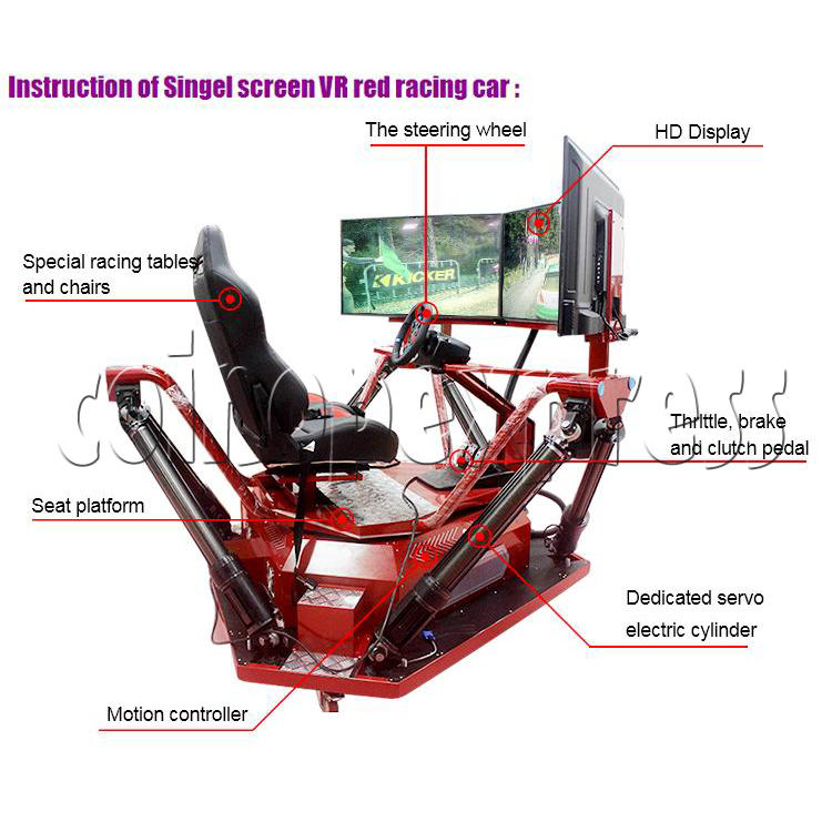 3 Fold Screen Virtual Reality Driving Car Arcade Game Machine- instruction