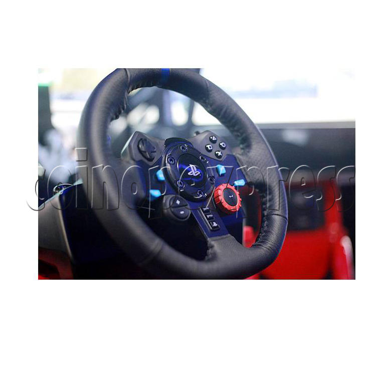 3 Fold Screen Virtual Reality Driving Car Arcade Game Machine- steering wheel