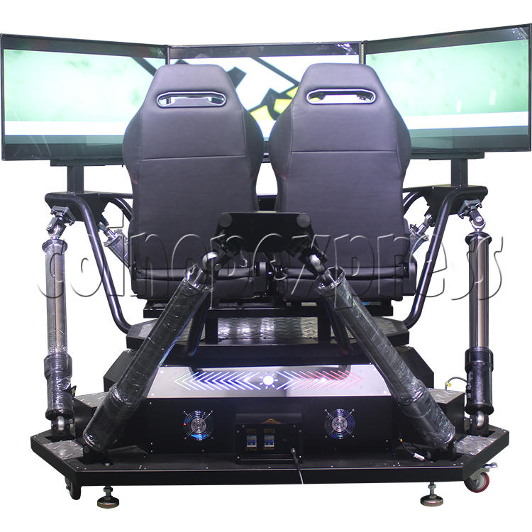 3 Fold Screen Virtual Reality Driving Car Arcade Game Machine - back view