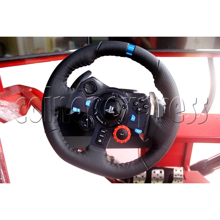 3 Fold Screen Virtual Reality Driving Car Arcade Game Machine - steering wheel