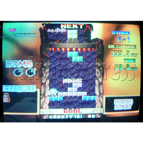 Tetris Plus 2 Arcade Game board - Game play -3