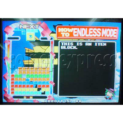 Tetris Plus 2 Arcade Game board - Game play -4
