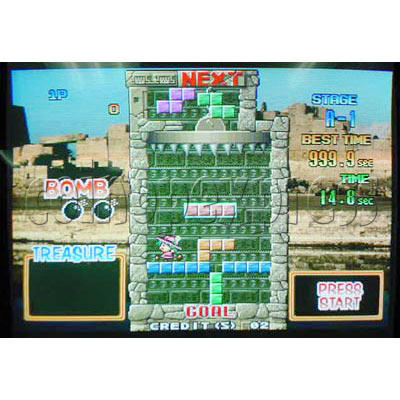 Tetris Plus 2 Arcade Game board - Game play -7