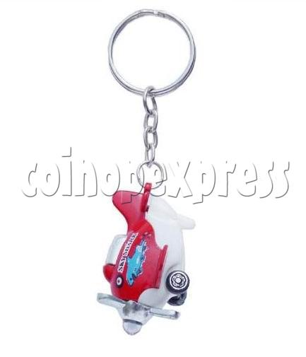 Mini Airplane Light-up Key Rings 12897