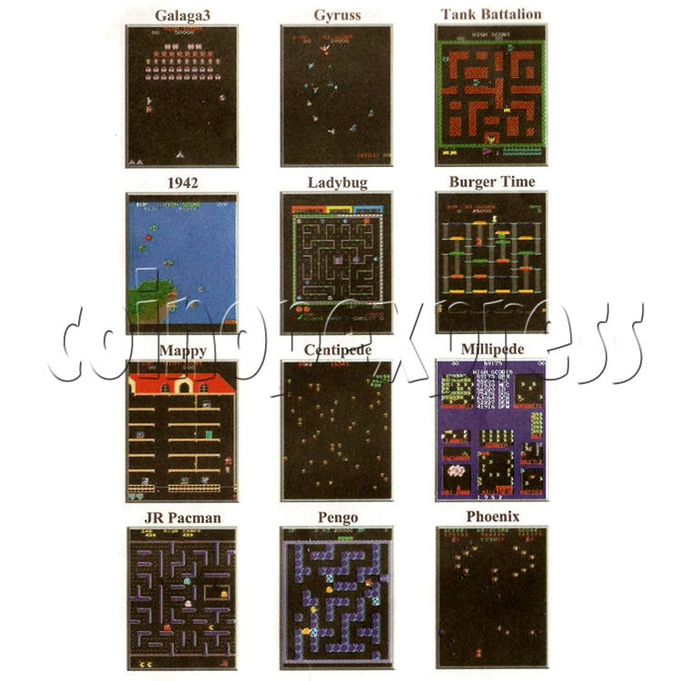 48 in 1 Multi Arcade Game Board game list-2