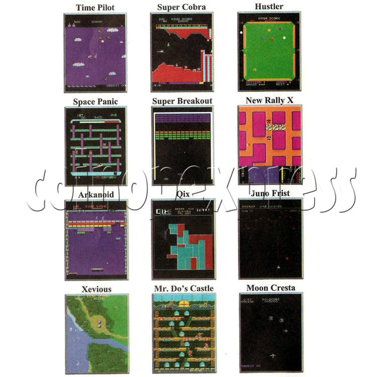 48 in 1 Multi Arcade Game Board game list-3