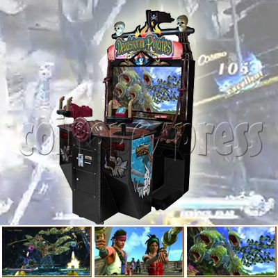 Deadstorm pirates upright sd shooting game machine on for Arcade fish shooting games