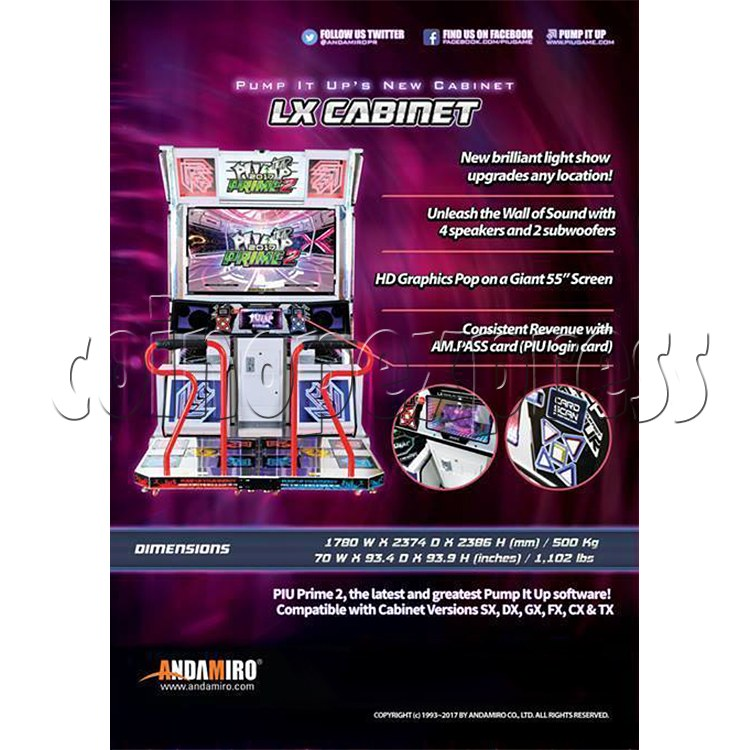 Pump It Up Prime 2 2017 Dance Machine ( LX 55 inch LCD screen) 34899