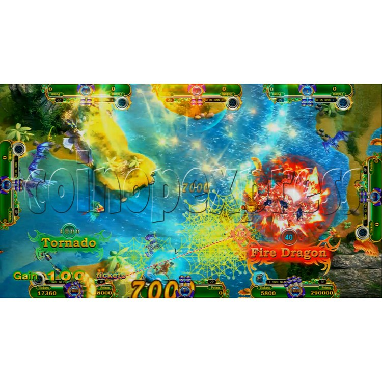 Mystic Dragon 2 Redemption Arcade Game Full Gameboard Kit-game play-8