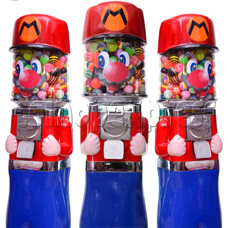 Cute Mr Ma Coin Operated Bouncy Balls Gumball Vending Machine  36871