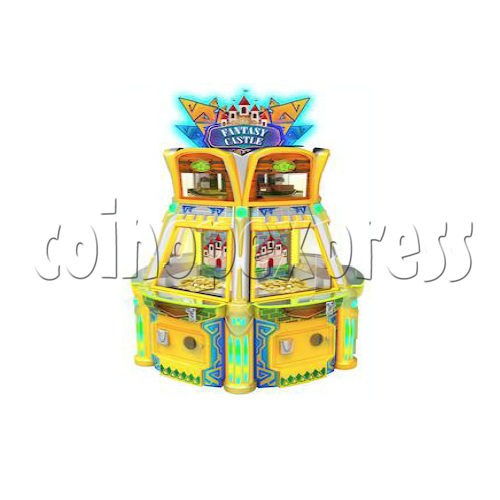Fantasy Castle Coin Pusher Ticket Redemption Arcade Machine - angle view