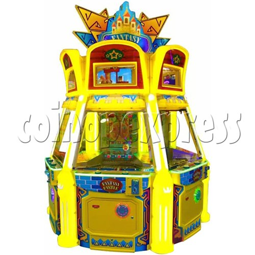 Fantasy Castle Coin Pusher Ticket Redemption Arcade Machine - side view 2
