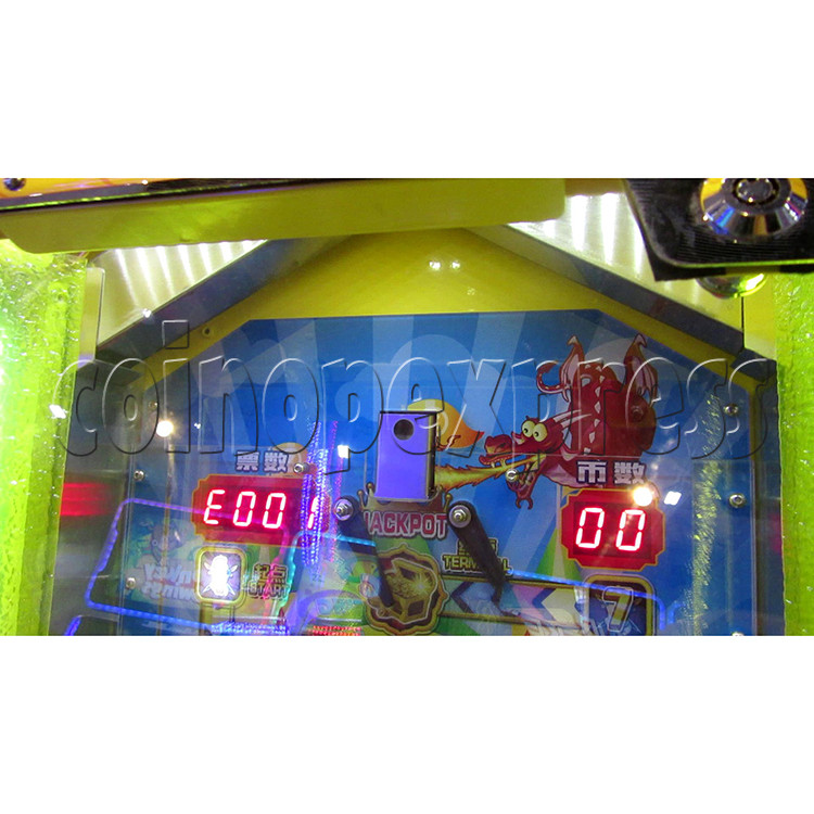 Fantasy Castle Coin Pusher Ticket Redemption Arcade Machine - coin chute