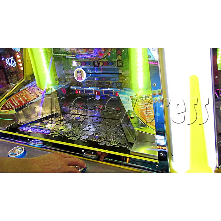Fantasy Castle Coin Pusher Ticket Redemption Arcade Machine - play view