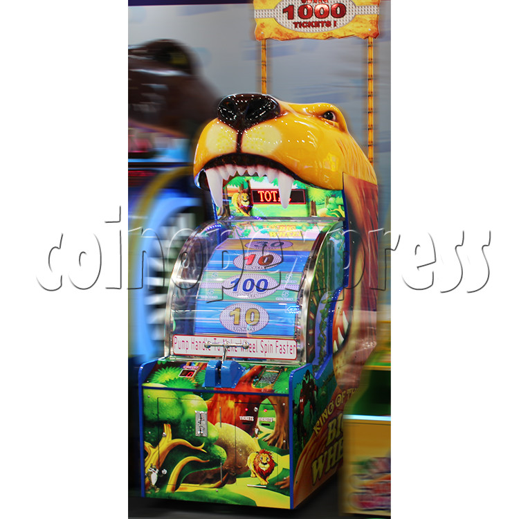King Of The Big Wheel Ticket Redemption Arcade Machine for Kid size - side view 2