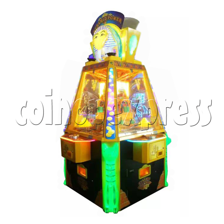 Treasure Pyramid Power Coin Drop Ticket Redemption Machine (4 players) 37056