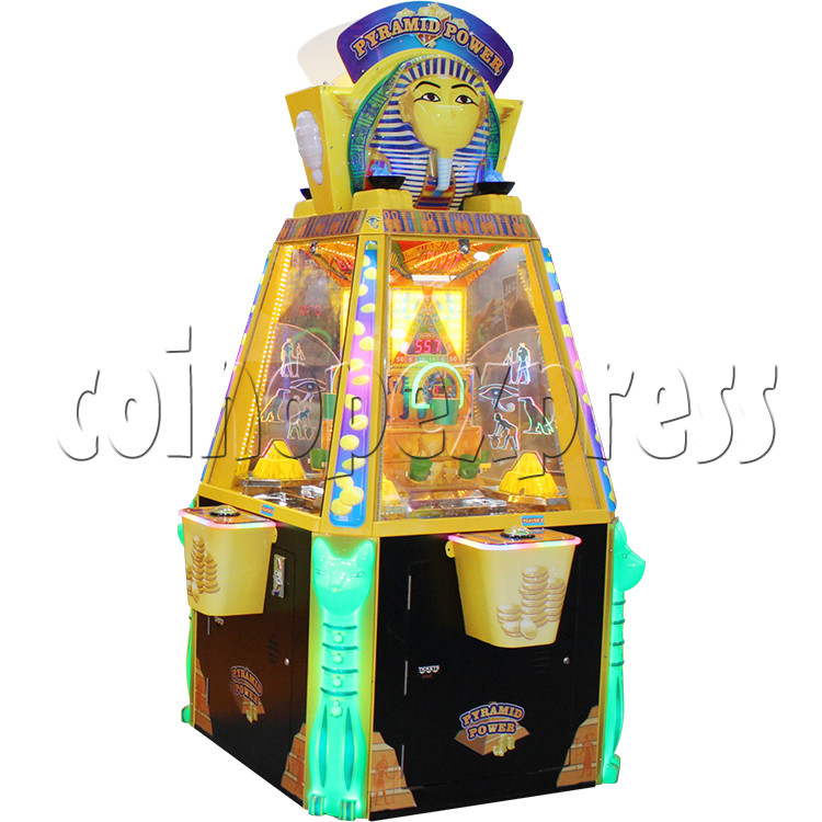 Treasure Pyramid Power Coin Drop Ticket Redemption Machine (4 players) 37134