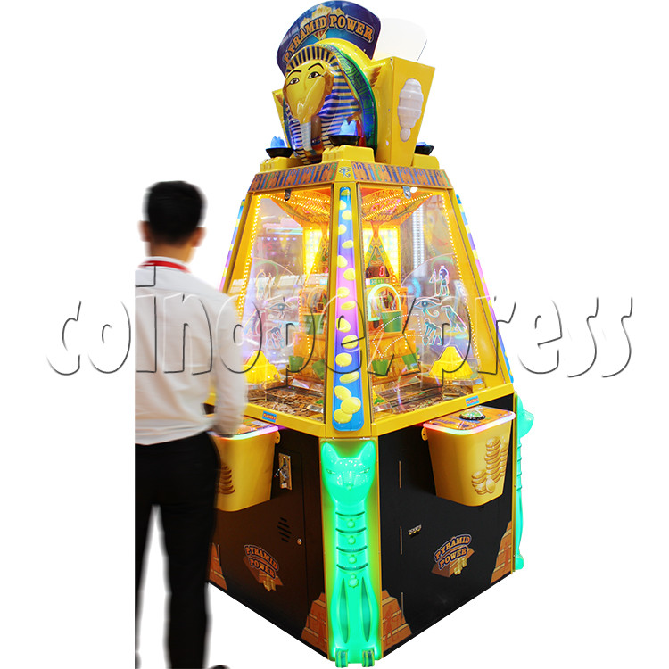 Treasure Pyramid Power Coin Drop Ticket Redemption Machine (4 players) 37135