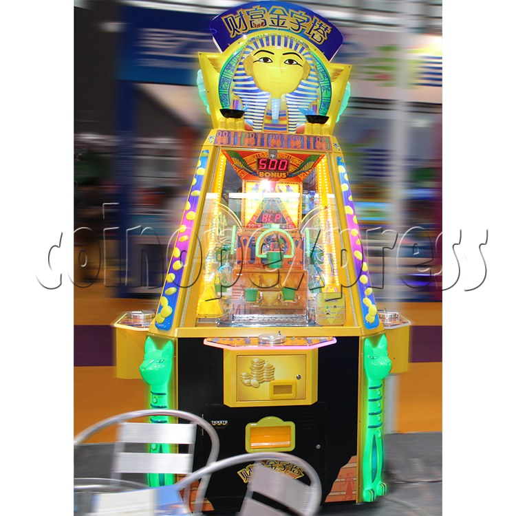 Treasure Pyramid Power Coin Drop Ticket Redemption Machine (4 players) 37136