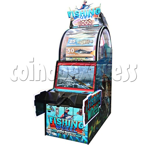Fishing Wheel Game Ticket Redemption Arcade Machine - angle view