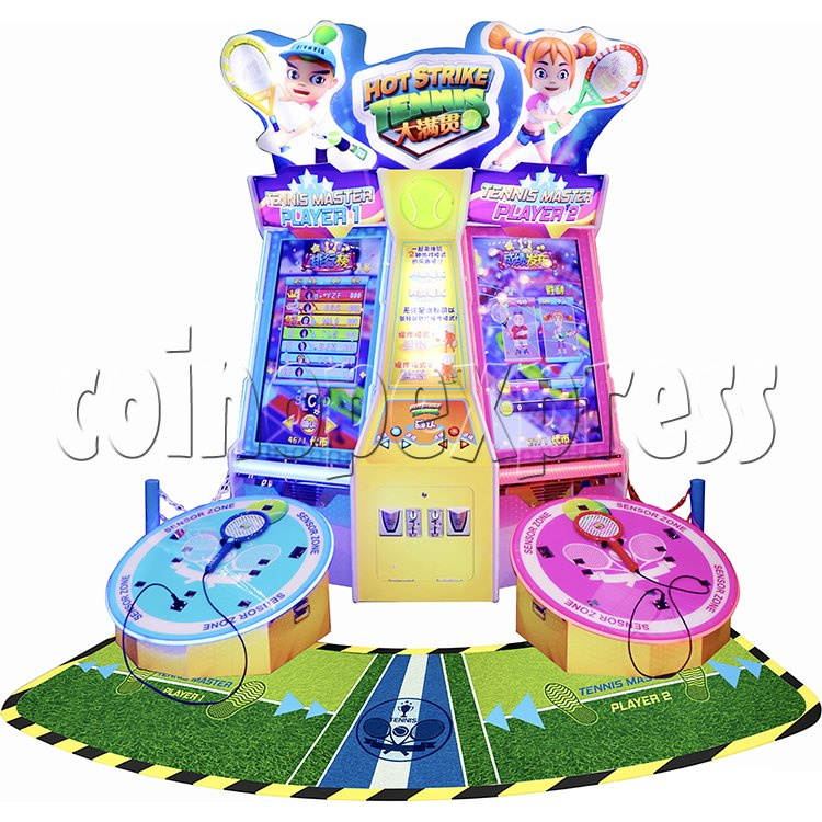 Hot Strike Tennis Ticket Redemption Arcade Machine 2 Players - front view