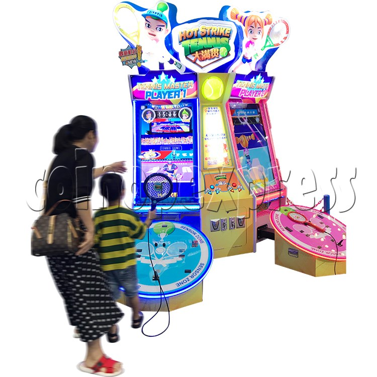 Hot Strike Tennis Ticket Redemption Arcade Machine 2 Players - play view 1