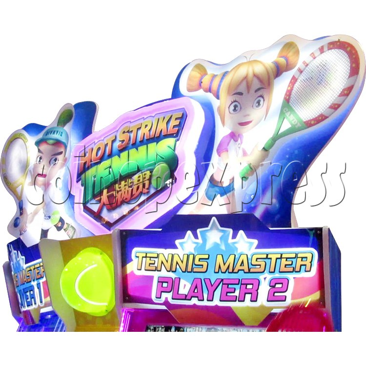 Hot Strike Tennis Ticket Redemption Arcade Machine 2 Players - header