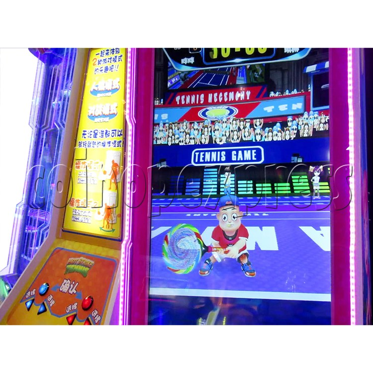 Hot Strike Tennis Ticket Redemption Arcade Machine 2 Players - screen display