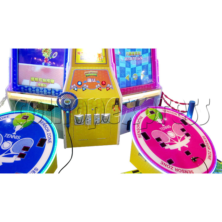 Hot Strike Tennis Ticket Redemption Arcade Machine 2 Players - playfield