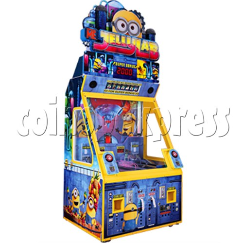 Despicable Me Jelly Lab Coin Roll Down Arcade Game machine 37687