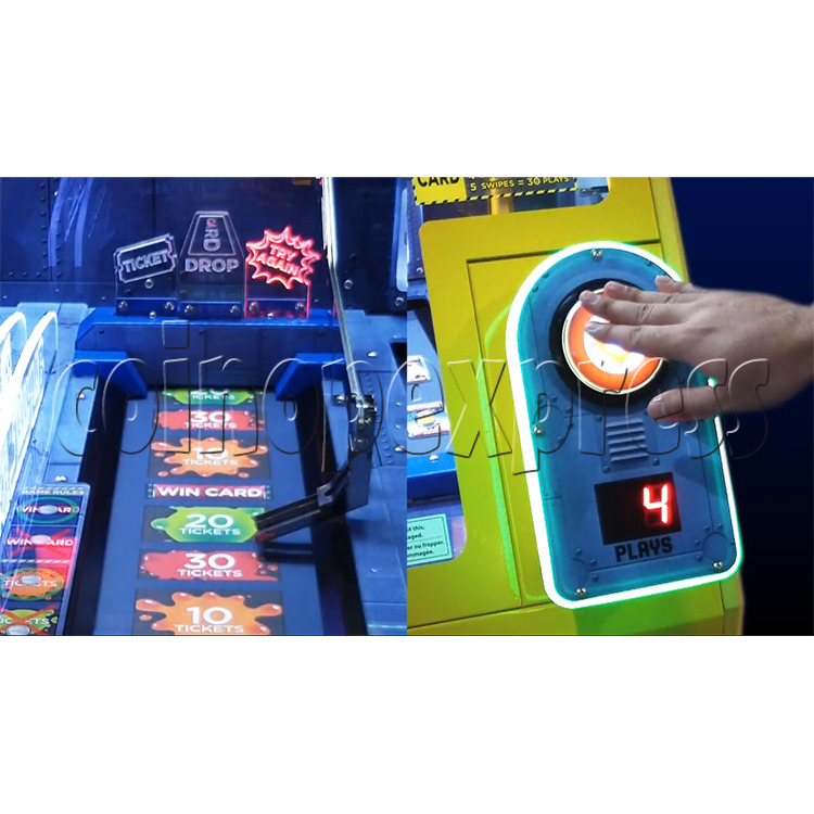 Despicable Me Jelly Lab Coin Roll Down Arcade Game machine 37691