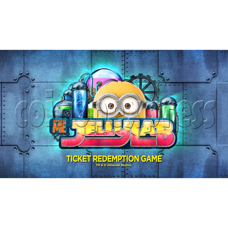 Despicable Me Jelly Lab Coin Roll Down Arcade Game machine 37693